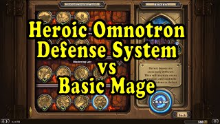 Hearthstone: Blackrock Mountain - Heroic Omnotron with a Basic Mage Deck