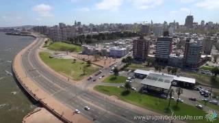 Video aéreo de las ramblas del sur-oeste de Montevideo, Uruguay desde lo Alto
