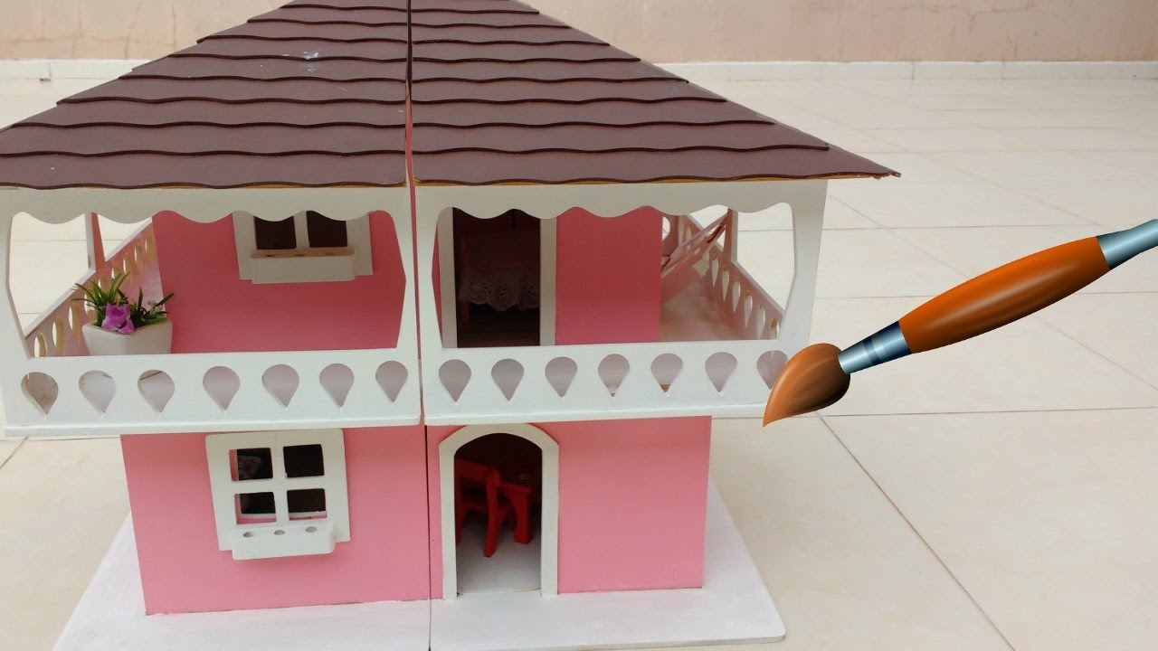 Pintando a casa da barbie mini barbie youtube - Minibar da casa ...