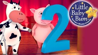 Numbers Song | Number 2 | Nursery Rhymes | Original Song By LittleBabyBum
