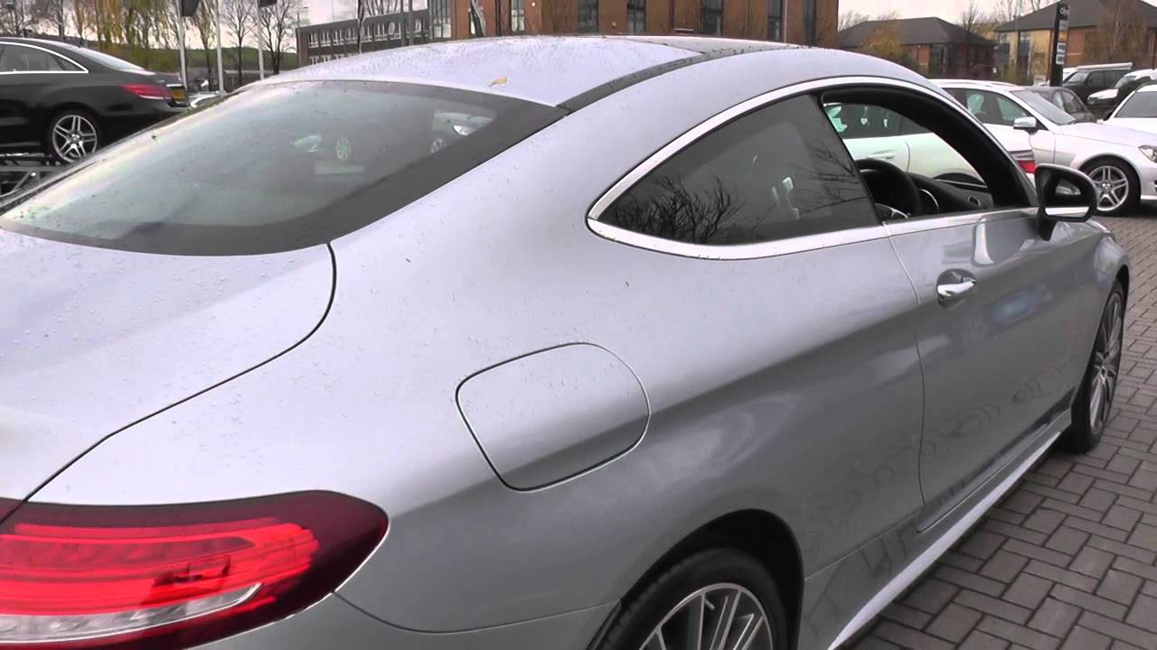 mercedes benz c class coupe 2015 c 220 d amg line coupe u24320 youtube. Black Bedroom Furniture Sets. Home Design Ideas
