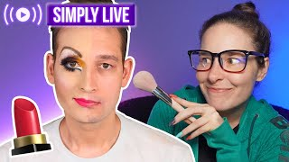 Doing my boyfriend's makeup 🔴LIVE - taking your requests!