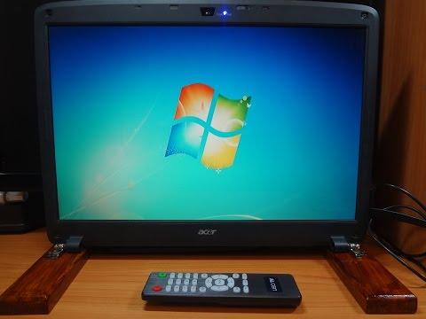 видео: tv из старой матрицы от ноутбука или телевизор из хлама.
