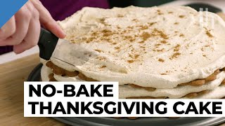How to Make a No-Bake Thanksgiving Pumpkin Spice Cake | Food Hacks with Claire