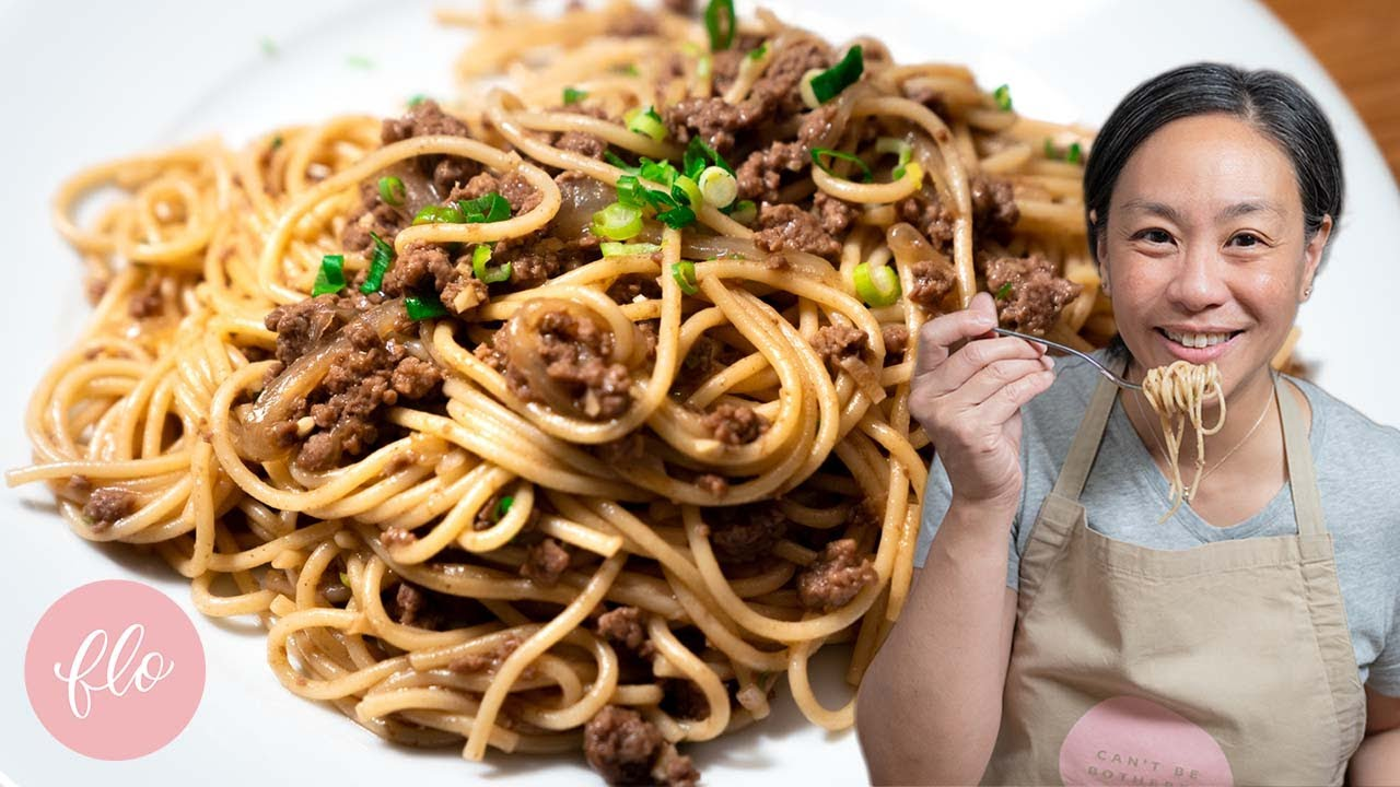 This Asian Pasta Sauce is CRAZY GOOD - A fusion pasta homage to Great Grandma