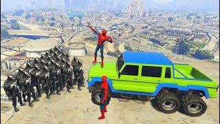 GTA 5 Crazy Ragdolls Spiderman Vs VENOM (GTA 5 Euphoria Physics Ragdolls Fails Funny)