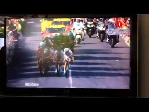 Matteo Trentin wins stage 14 (tour 2013) HD