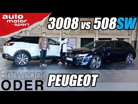 Peugeot 508SW vs 3008 (Vergleich/Review)   Entweder ODER   auto motor und sport