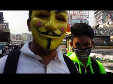 Million Mask March Philippines2016 #opfeedthehomeless By Anonymous  Cavite