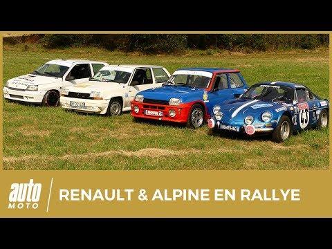 Alpine A110 vs Renault 5 turbo vs Clio 16S vs 5 GT turbo : légendes du rallye