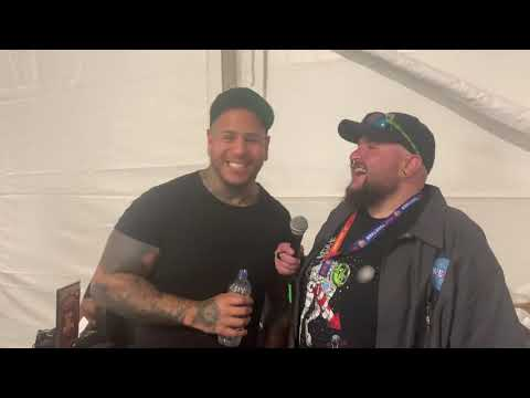 Nudge - Hangin at Sonic Temple w/ Tommy Vext of BAD WOLVES