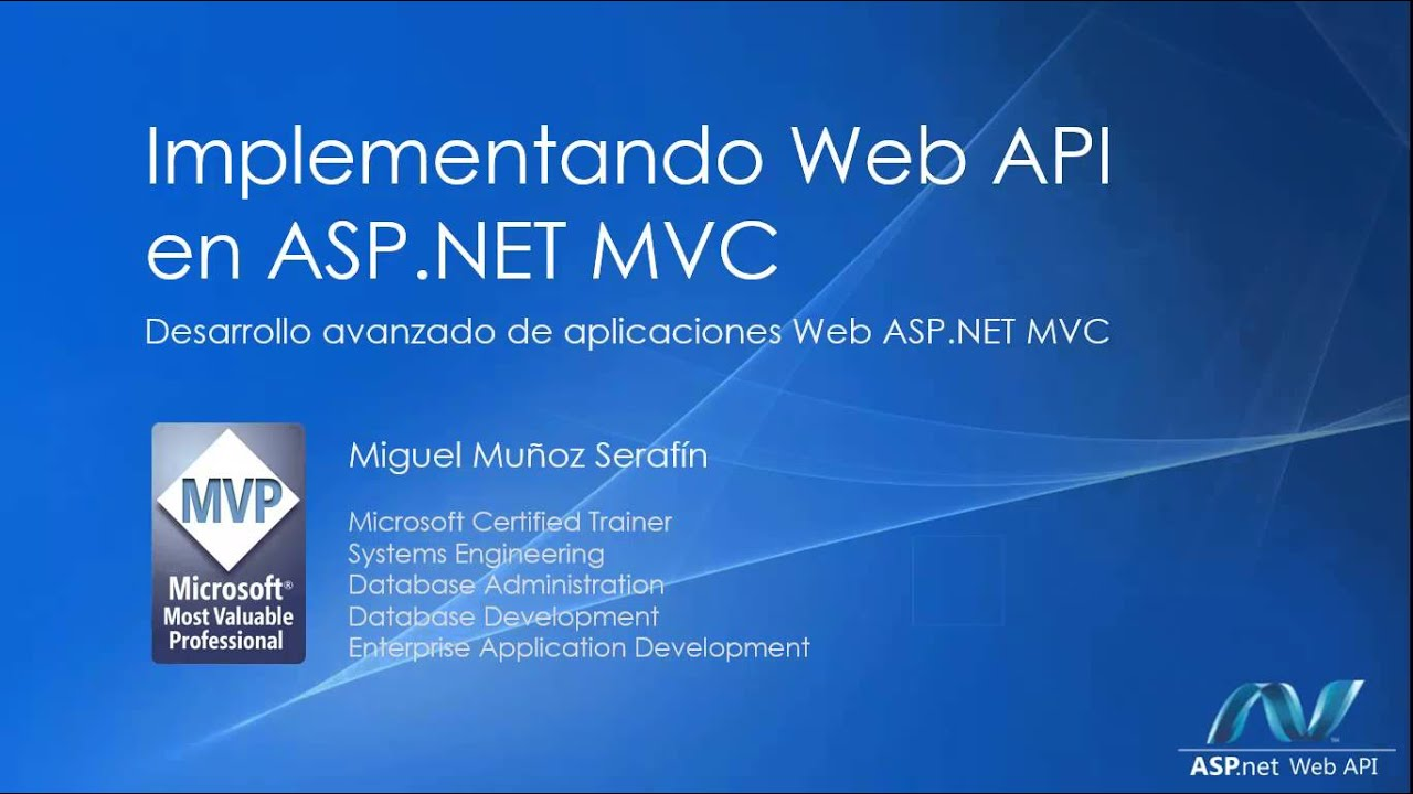 Implementando Web Api En Asp Mvc Youtube