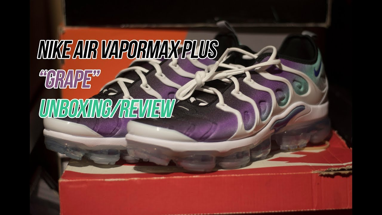 6dd32c7ae291c Air Vapormax Plus Grape  Sneaker Unboxing and Review - YouTube