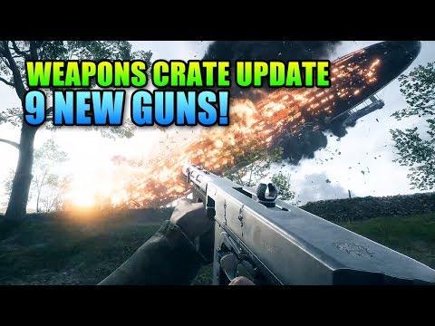 9 New Guns! Weapons Crate Update Battlefield 1