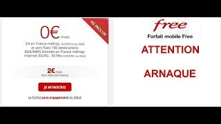 FREE MOBILE ATTENTION ARNAQUE