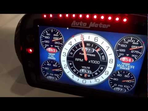 Auto Meter LCD Competition Dash At SEMA 2012