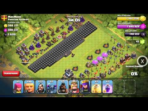 Clash Of Clans - Hog rider jump