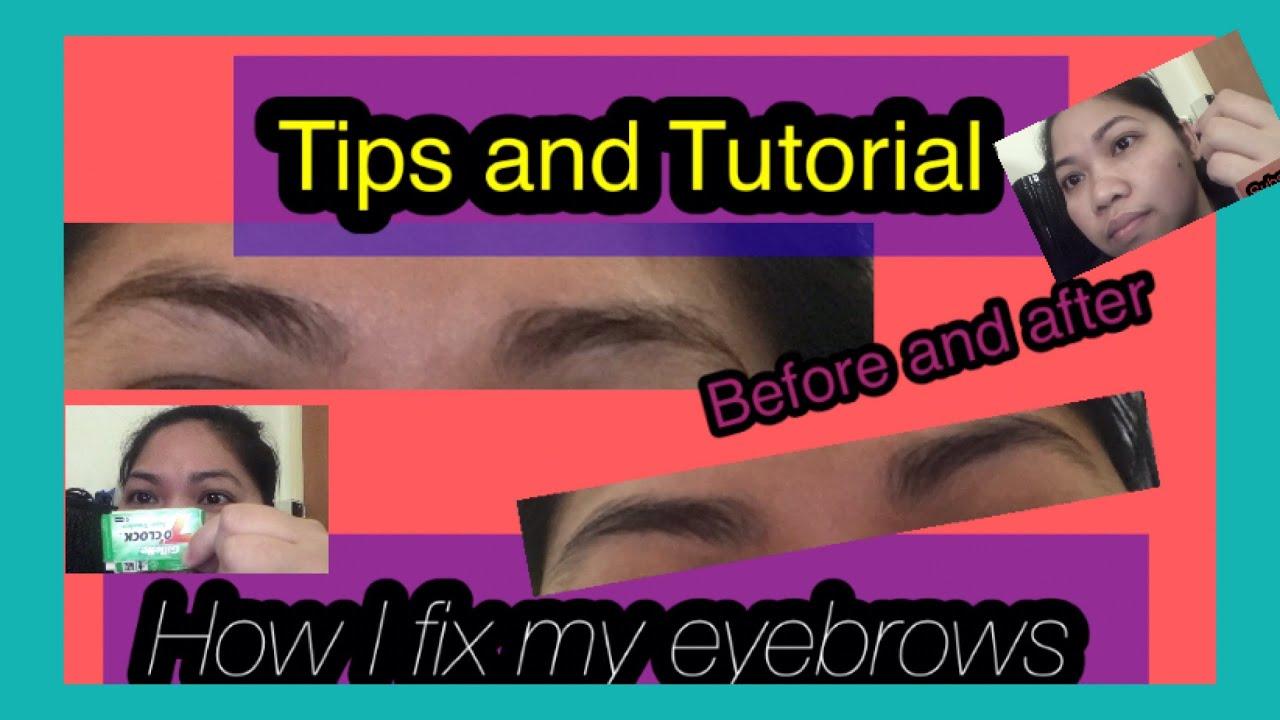 How I shave my Eyebrows Using Razor Blade - YouTube