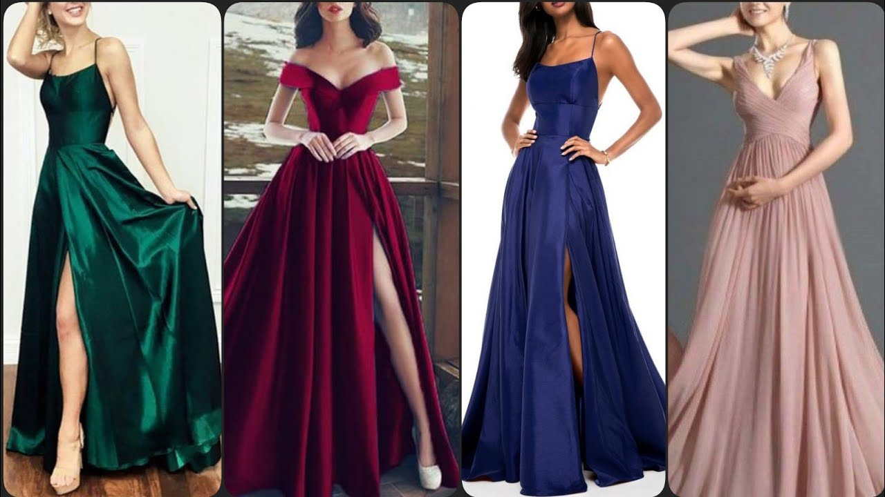 Stylish yourself in perfect formal wear silk maxi dresses evening dresses designs