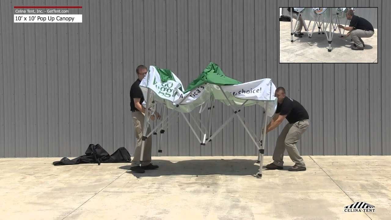 10x10 fast shade pop up canopy setup instructions youtube