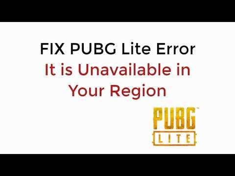 How To Fix PUBG Lite Error It Is Unavailable In Your Region UPDATED