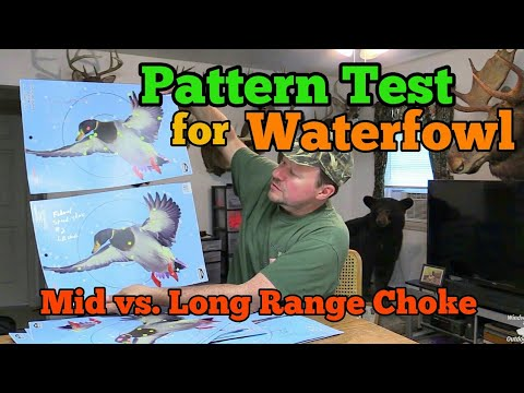 Pattern Test For Waterfowl (Mid Vs. Long Range Choke)