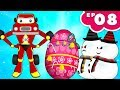 Red Super Car Ricky vs Snowman stolen surprise egg | Kids Cars Cartoon Episode -08