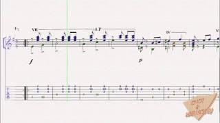 Csikos Post (Ver. 1) (크시코스의 우편마차) For Guitar Solo (+ TAB, 기타편곡, 기타연주, 기타악보)