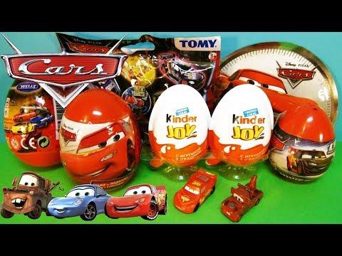 Видео: ТАЧКИ Дисней MIX Игрушки машинки сюрпризы по мультику Cars Disney Kinder Joy, Surprise Eggs, Welly