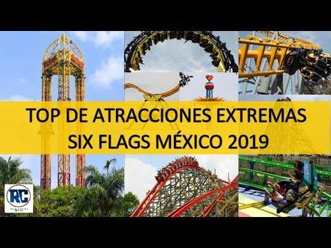 TOP 10 Atracciones EXTREMAS de Six Flags México 2019