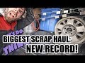First Scrap Metal Haul In New Truck - Biggest Haul Yet? NEW RECORD!