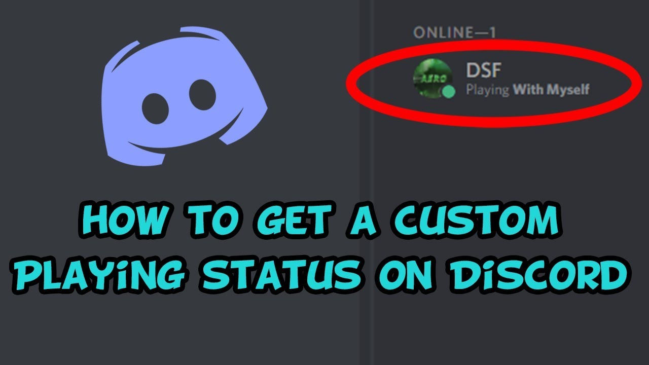 How to set a custom playing status on Discord!