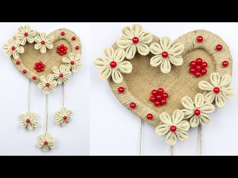 How to make a beautiful wall hanging with cardboard and jute rope | best out of waste