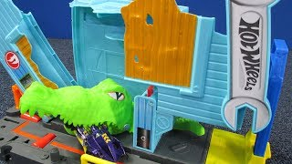 Gator Garage Attack Hot Wheels Play Set #hotwheelscity NEW for 2018!