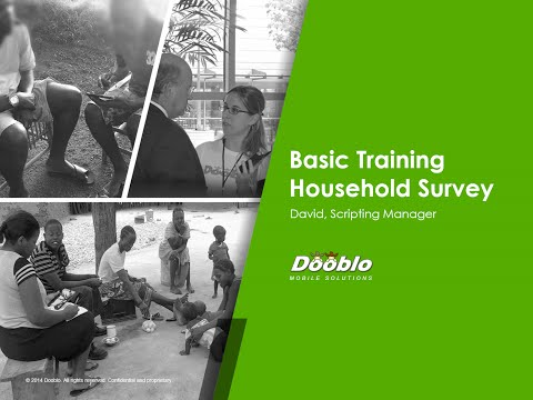SurveyToGo Basic Training - Household Survey