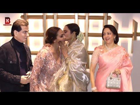 Rekha, Esha Deol Jitendra, Arrives At HEMA MALINI BIRTHDAY CELEBRATION