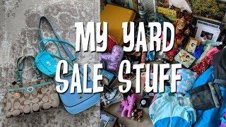 Neighborhood Yard Sale Stuff Preview-Getting Rid of Stuff+Decluttering!