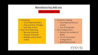Add ons to make your NAV manufacturing more useful