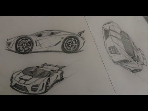 How to rapid sketch a car | Easy and simple (PART 1)