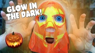 GLOW IN THE DARK HALLOWEEN FACE MASKS!