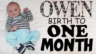 Happy One Month Birthday, Owen!