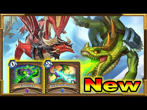 Hearthstone: My Brand New Deck With Embiggen, Breath Of Dreams And Dragons   Descent Of Dragons New