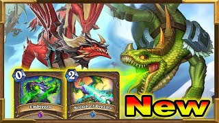 Hearthstone: My Brand New Deck With Embiggen, Breath of Dreams and Dragons | Descent of Dragons New