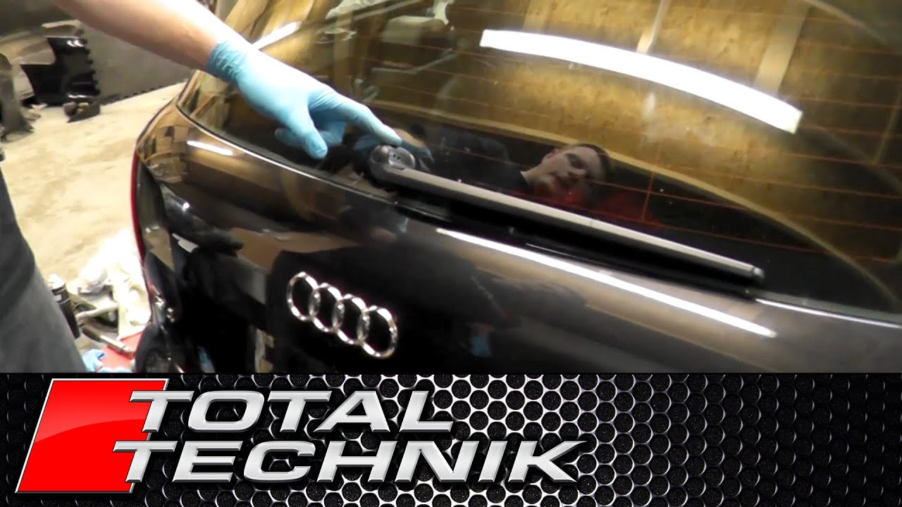 How to Remove Rear Wiper Arm - Audi A4 S4 RS4 - B6 B7 - Avant Estate - TOTAL TECHNIK - YouTube