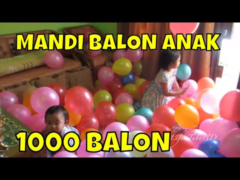 Mandi Balon Dekorasi Ulang Tahun Mainan Anak 💖 Balonnya banyak sekali