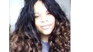 "Freetress Candy Curl 24"" color TT30 Latch Hook / Crochet Braids and take down"