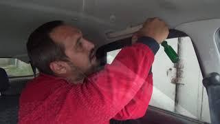 БЖ гранта лифтбек.  Снять потолок лада гранта.  Remove LADA car ceiling