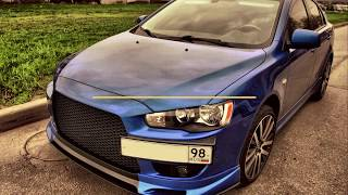 Подиум под номер Evolution для Mitsubishi Lancer X / podium under number / ParTuning