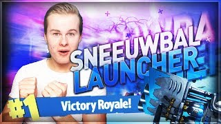 WINNEN MET DE SNEEUWBAL LAUNCHER!! - Fortnite Battle Royale (Nederlands)