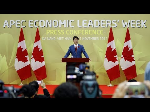 Prime Minister Trudeau delivers remarks at the end of the APEC Leaders' Meeting